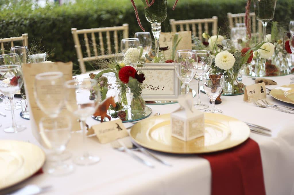 Country Hochzeit Tischdekoration