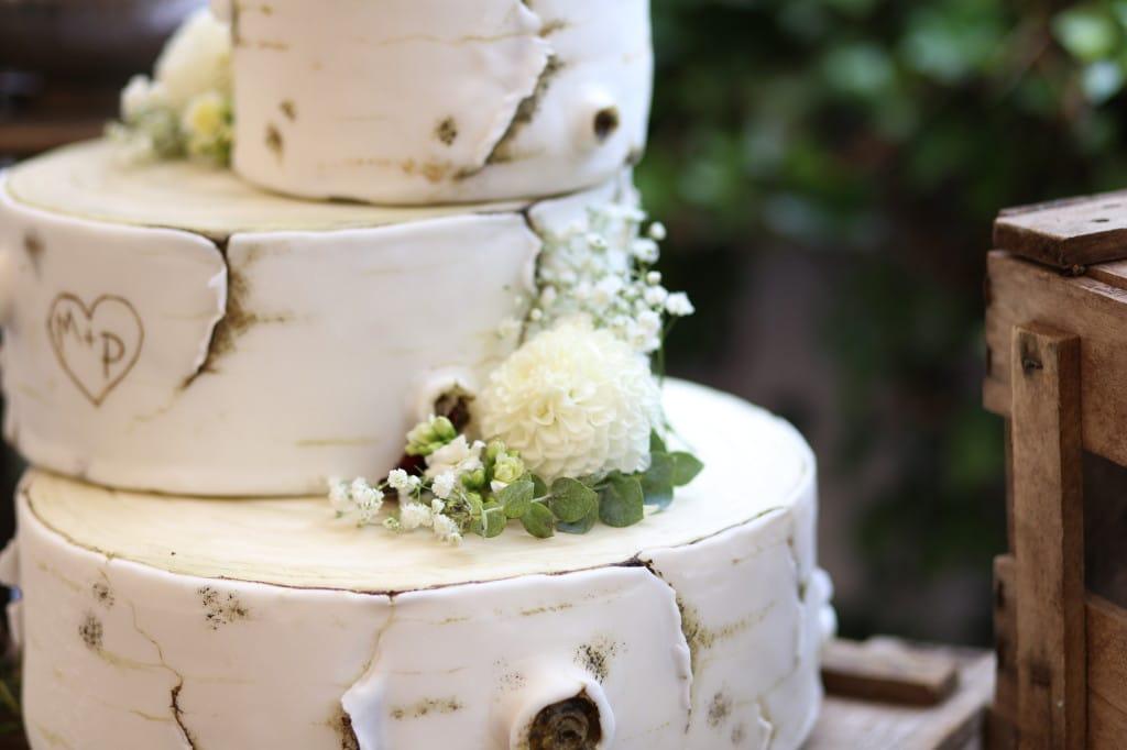 Bezaubernde Baumstammtorte Im Rustic Chic Heiraten Hochzeit