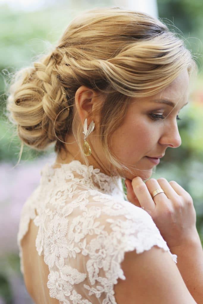 Country Hochzeit Brautfrisur