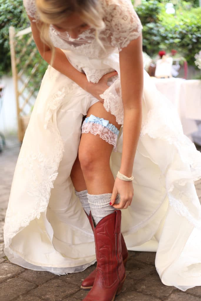 Country Hochzeit Strumpfband