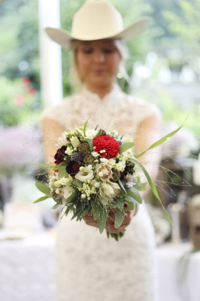Country Hochzeit Brautstrauß