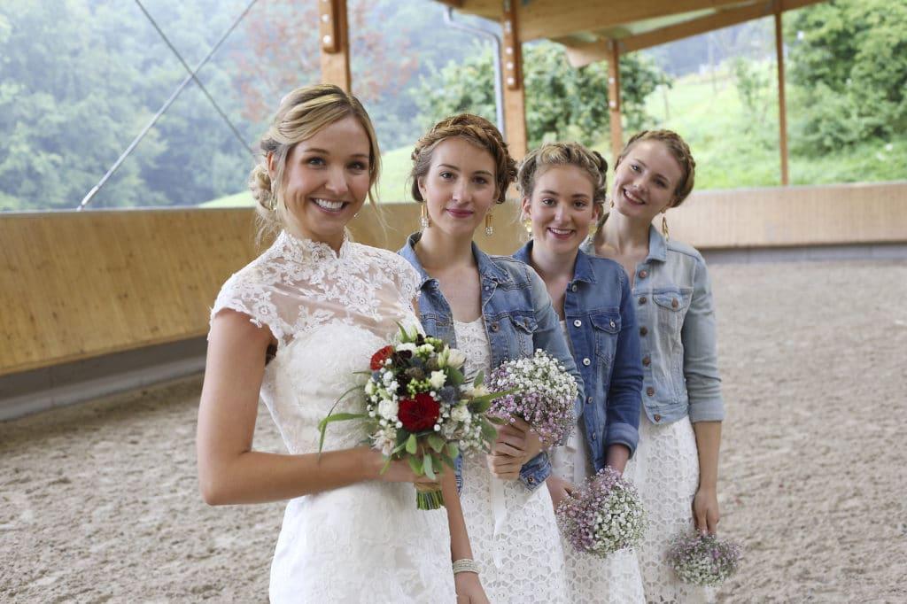 Country Hochzeit Brautjungfern