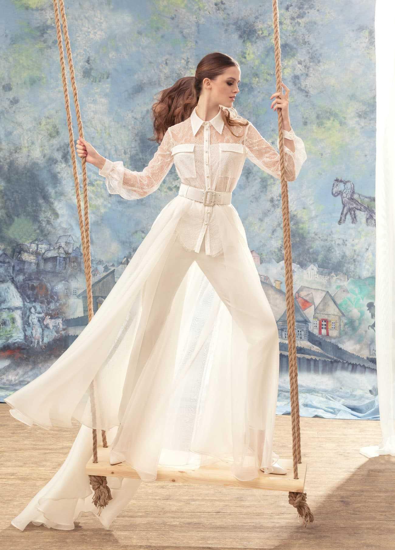 Lassig Cool Und Schwungvoll Das Hosenkleid Fur Die Braut