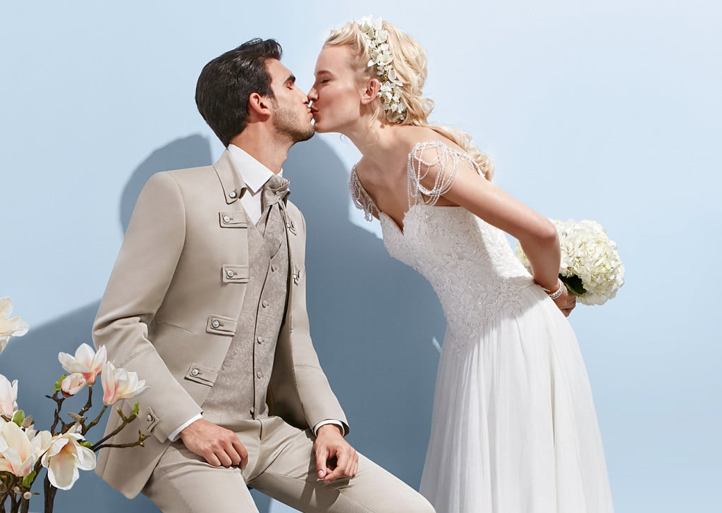 Hochzeitsanzug hell Tziacco