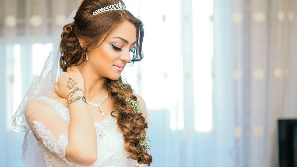 Hochzeitsfrisur geflochten