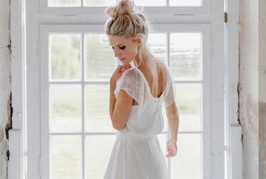 Ein Brautkleid mit Flatterärmeln - Heiraten & Hochzeit