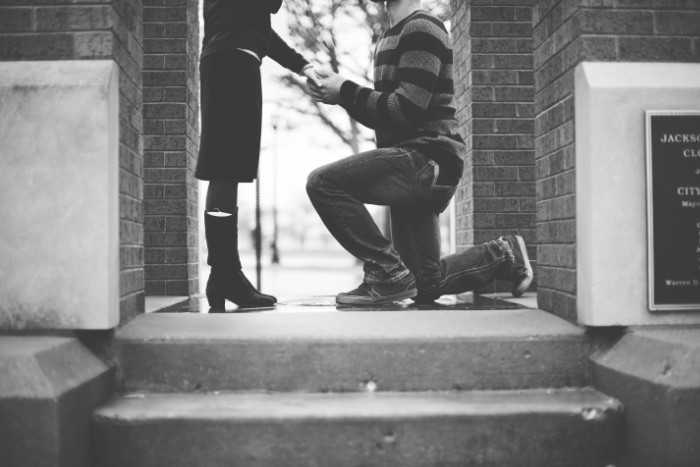 Heiratsantrag am Feiertag