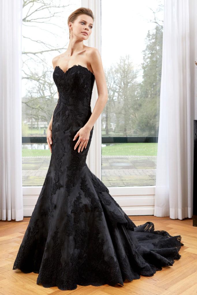 schwarzes Brautkleid