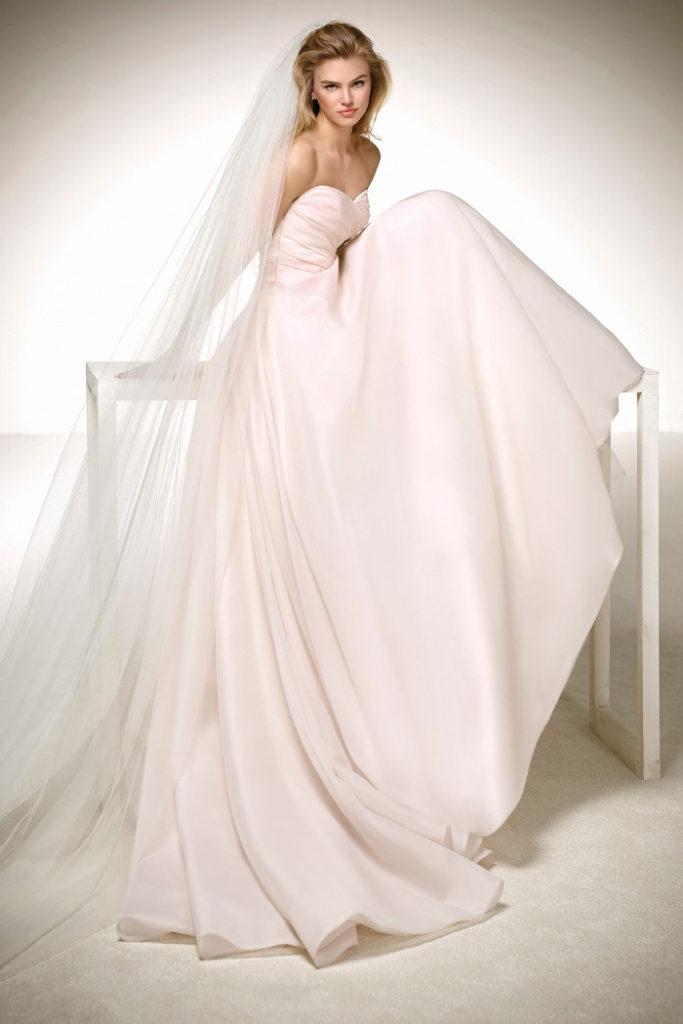 rosa Brautkleid