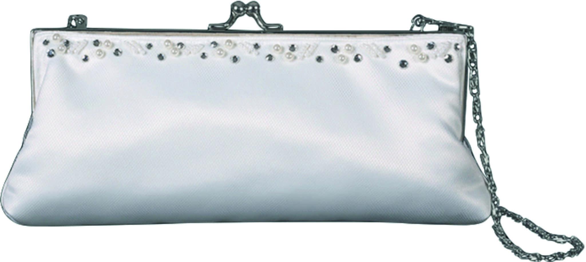 Perlenbestickte weiße Clutch von Kleemeier für Euer Brautstyling